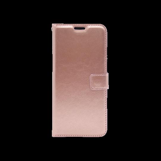 Samsung Galaxy J6+ (2018) - Preklopna torbica (WLC) - roza-zlata