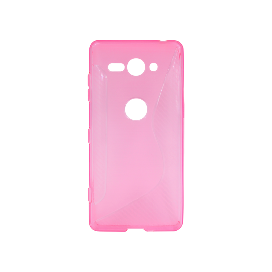 Sony Xperia XZ2 Compact - Gumiran ovitek (TPU) - roza-prosojen CS-Type