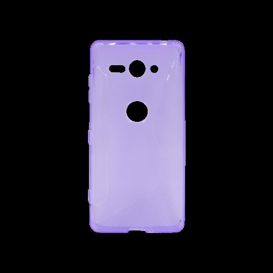 Sony Xperia XZ2 Compact - Gumiran ovitek (TPU) - vijolično-prosojen CS-Type