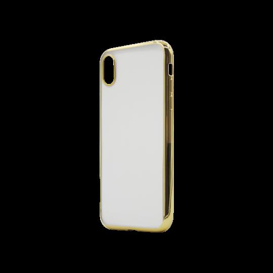 Apple iPhone XR - Gumiran ovitek (TPUE) - rob zlat