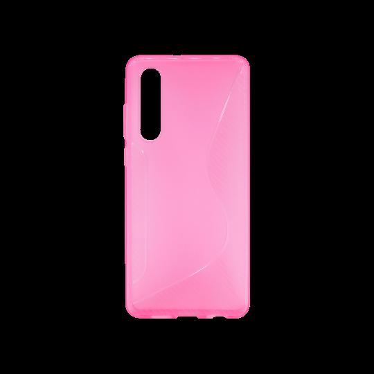 Huawei P30 - Gumiran ovitek (TPU) - roza-prosojen CS-Type