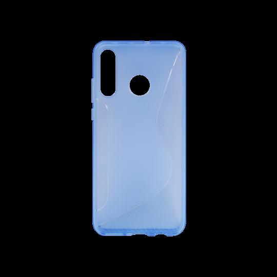 Huawei P30 Lite - Gumiran ovitek (TPU) - modro-prosojen CS-Type