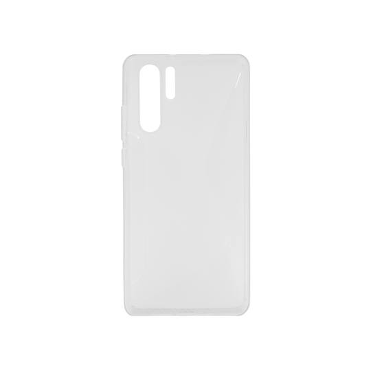 Huawei P30 Pro - Gumiran ovitek (TPU) - belo-prosojen CS-Type