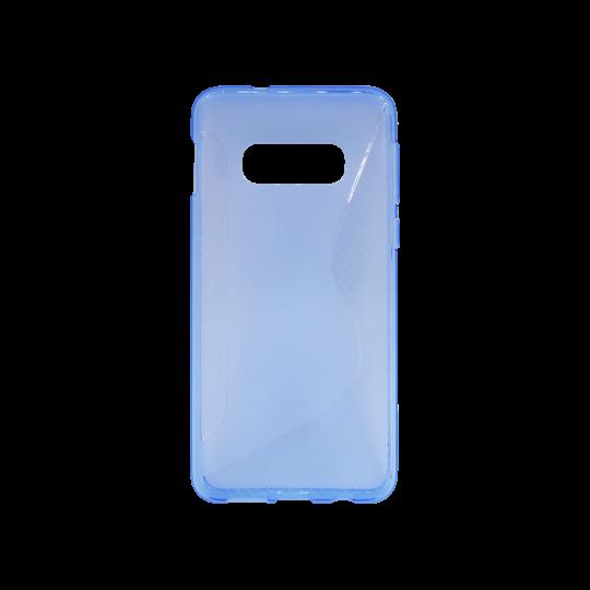 Samsung Galaxy S10e - Gumiran ovitek (TPU) - modro-prosojen CS-Type