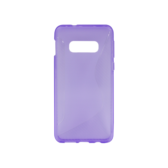 Samsung Galaxy S10e - Gumiran ovitek (TPU) - vijolično-prosojen CS-Type