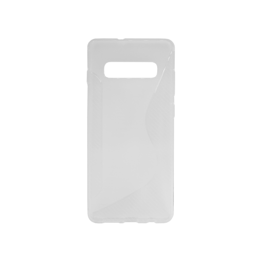 Samsung Galaxy S10 - Gumiran ovitek (TPU) - belo-prosojen CS-Type