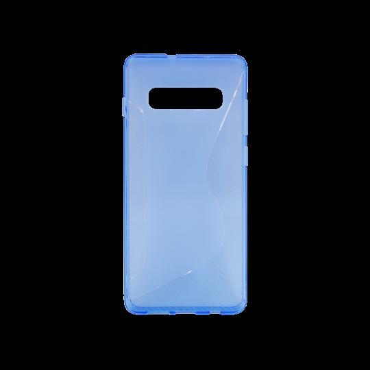 Samsung Galaxy S10 - Gumiran ovitek (TPU) - modro-prosojen CS-Type
