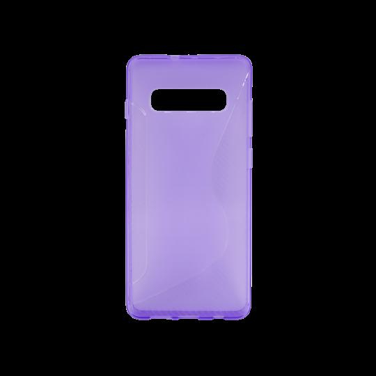 Samsung Galaxy S10 - Gumiran ovitek (TPU) - vijolično-prosojen CS-Type