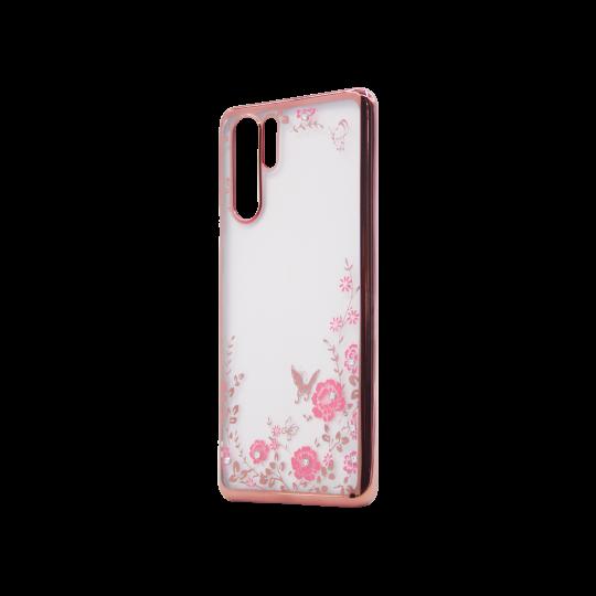 Huawei P30 Pro - Gumiran ovitek (TPUE) - roza rob - roza rožice