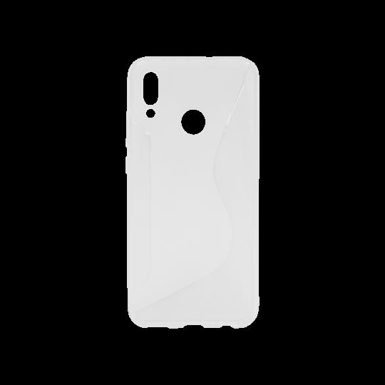 Huawei P Smart (2019)/Honor 10 Lite - Gumiran ovitek (TPU) - belo-prosojen CS-Type