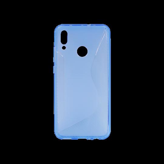 Huawei P Smart (2019)/Honor 10 Lite - Gumiran ovitek (TPU) - modro-prosojen CS-Type