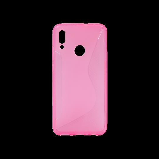 Huawei P Smart (2019)/Honor 10 Lite - Gumiran ovitek (TPU) - roza-prosojen CS-Type