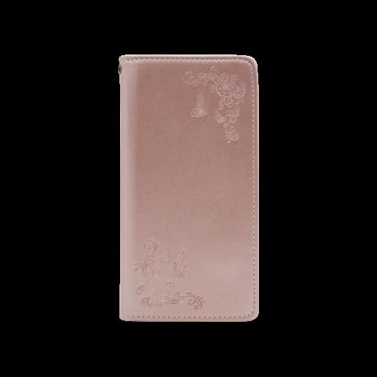 Samsung Galaxy S10 - Preklopna torbica (WLGO-Butterfly) - roza-zlata