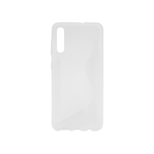 Samsung Galaxy A50/A30s/A50s - Gumiran ovitek (TPU) - belo-prosojen CS-Type