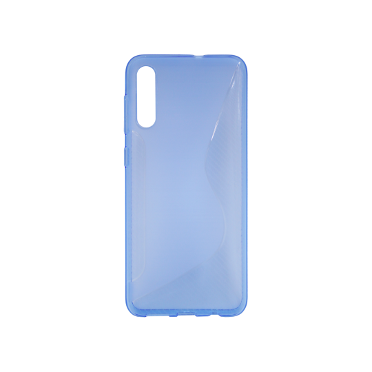 Samsung Galaxy A50/A30s/A50s - Gumiran ovitek (TPU) - modro-prosojen CS-Type