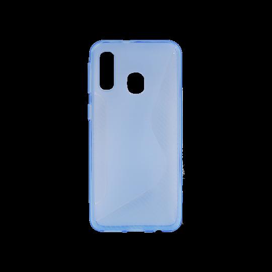 Samsung Galaxy A20 / A30 - Gumiran ovitek (TPU) - modro-prosojen CS-Type
