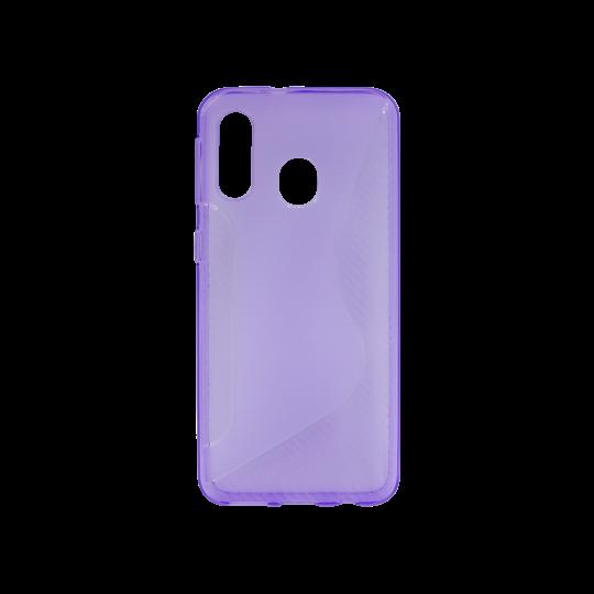 Samsung Galaxy A20 / A30 - Gumiran ovitek (TPU) - vijolično-prosojen CS-Type