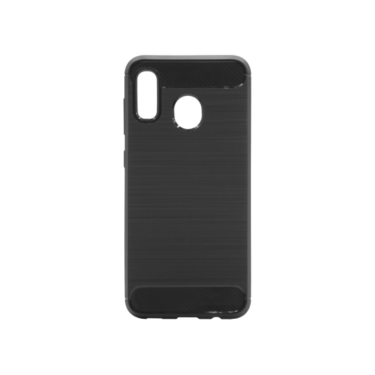 Samsung Galaxy A20 / A30 - Gumiran ovitek (TPU) - črn A-Type