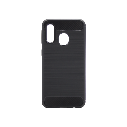 Samsung Galaxy A40 - Gumiran ovitek (TPU) - črn A-Type