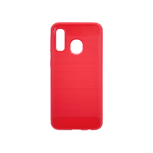 Samsung Galaxy A40 - Gumiran ovitek (TPU) - rdeč A-Type
