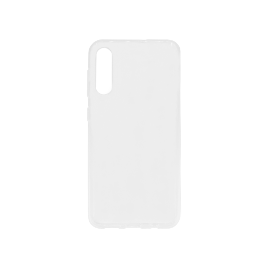 Samsung Galaxy A50/A30s/A50s - Gumiran ovitek (TPU) - belo-prosojen svetleč