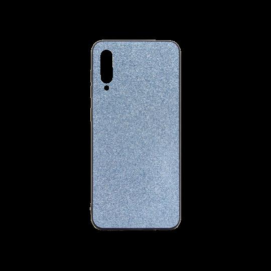Samsung Galaxy A50/A30s/A50s - Gumiran ovitek z bleščicami (PCB) - modra