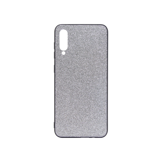 Samsung Galaxy A50/A30s/A50s - Gumiran ovitek z bleščicami (PCB) - srebrna