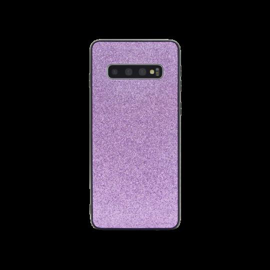 Samsung Galaxy S10 - Gumiran ovitek z bleščicami (PCB) - vijolična