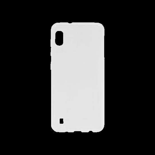 Samsung Galaxy A10 - Gumiran ovitek (TPU) - belo-prosojen svetleč