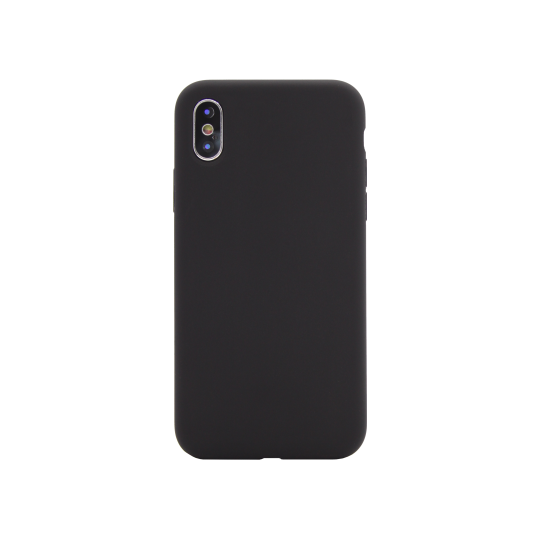 Apple iPhone X/XS - Silikonski ovitek (liquid silicone) - Soft - Black