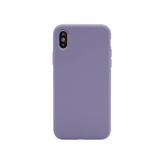 Apple iPhone X/XS - Silikonski ovitek (liquid silicone) - Soft - Lavender Gray