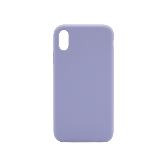 Apple iPhone XR - Silikonski ovitek (liquid silicone) - Soft - Lavender Gray