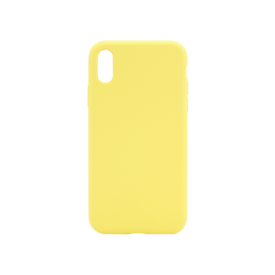 Apple iPhone XR - Silikonski ovitek (liquid silicone) - Soft - Light Yellow