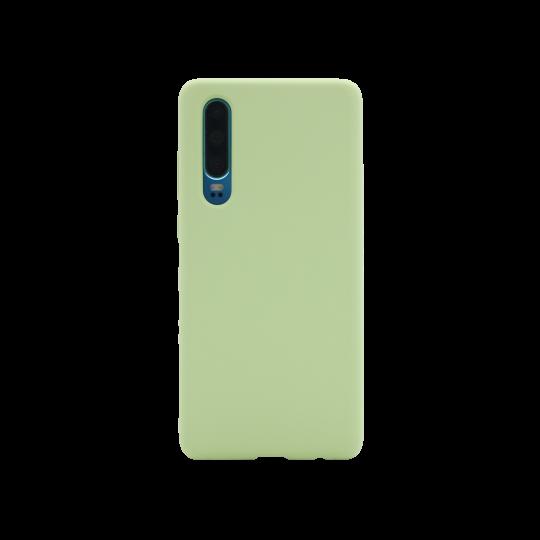 Huawei P30 - Silikonski ovitek (liquid silicone) - Soft - Mint Green
