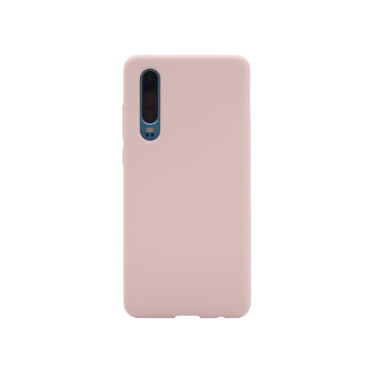 Huawei P30 - Silikonski ovitek (liquid silicone) - Soft - Pink Sand