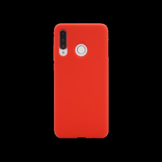 Huawei P30 Lite - Silikonski ovitek (liquid silicone) - Soft - Red