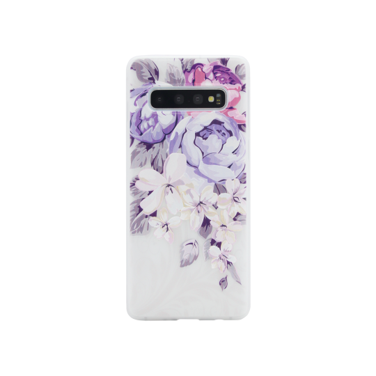 Samsung Galaxy S10 - Gumiran ovitek (TPUP) - Purple Roses