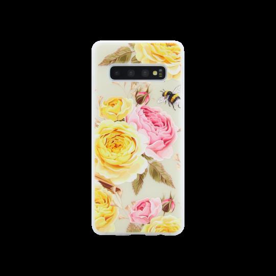 Samsung Galaxy S10 - Gumiran ovitek (TPUP) - Yellow Roses