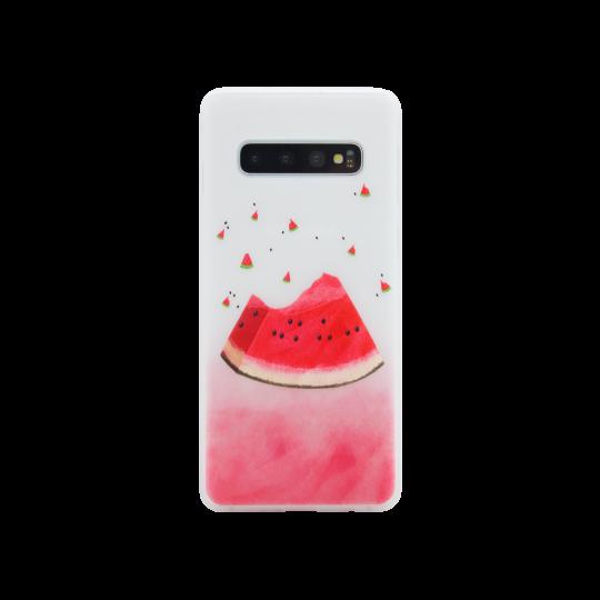 Samsung Galaxy S10 - Gumiran ovitek (TPUP) - Watermelon