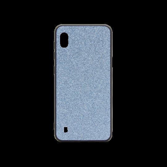 Samsung Galaxy A10 - Gumiran ovitek z bleščicami (PCB) - modra
