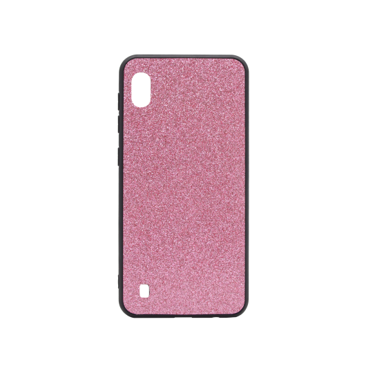 Samsung Galaxy A10 - Gumiran ovitek z bleščicami (PCB) - roza