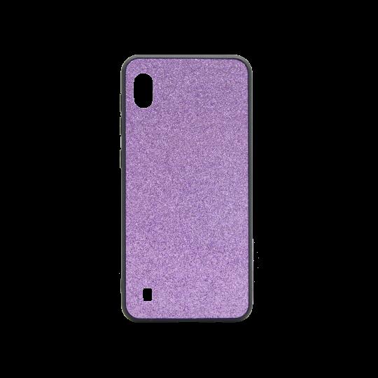 Samsung Galaxy A10 - Gumiran ovitek z bleščicami (PCB) - vijolična