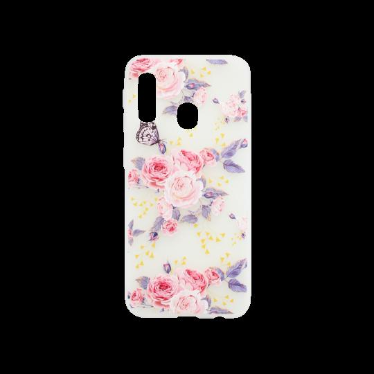 Samsung Galaxy A20e - Gumiran ovitek (TPUP) - Pink Roses