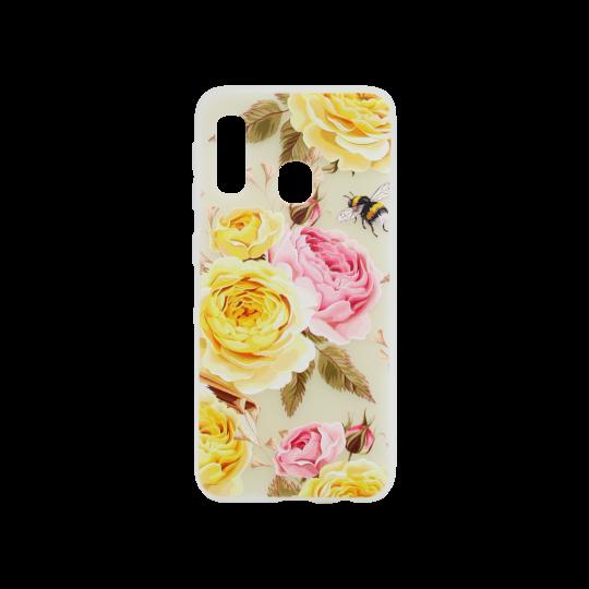 Samsung Galaxy A20e - Gumiran ovitek (TPUP) - Yellow Roses