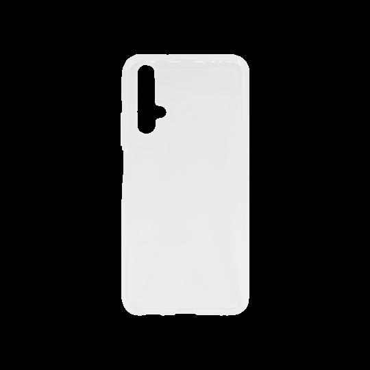 Huawei Honor 20 / Nova 5T - Gumiran ovitek (TPU) - belo-prosojen svetleč