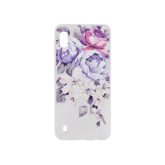 Samsung Galaxy A10 - Gumiran ovitek (TPUP) - Purple Roses