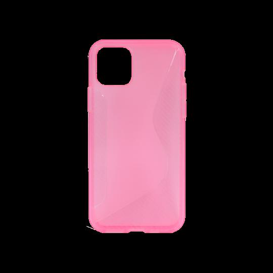 Apple iPhone 11 - Gumiran ovitek (TPU) - roza-prosojen CS-Type