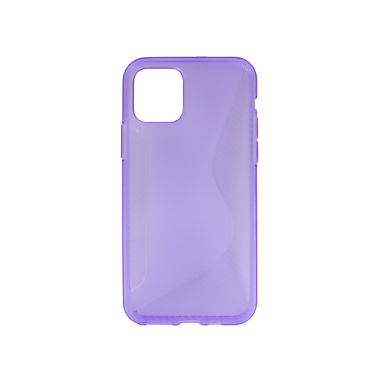 Apple iPhone 11 - Gumiran ovitek (TPU) - vijolično-prosojen CS-Type