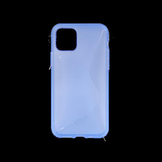 Apple iPhone 11 Pro Max - Gumiran ovitek (TPU) - modro-prosojen CS-Type