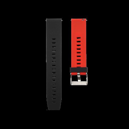 Silikonski pašček V13 (20mm) - črno rdeč